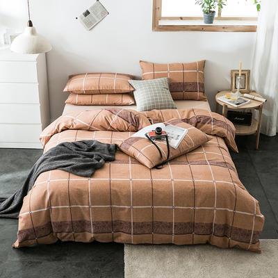 2020新款-全棉英伦风四件套 床单款三件套1.2m(4英尺)床 雅典
