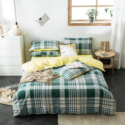2020新款-全棉英伦风四件套 床单款三件套1.2m(4英尺)床 夜未央