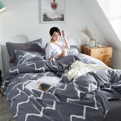 2020新款-全棉简约宜家系列多规格 床单款三件套1.2m(4英尺)床 安迪
