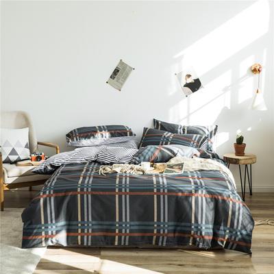 2020新款-全棉简约宜家系列多规格 床单款三件套1.2m(4英尺)床 典雅