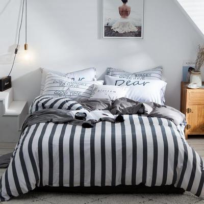 2020新款-全棉简约宜家系列多规格 床单款三件套1.2m(4英尺)床 都市密码