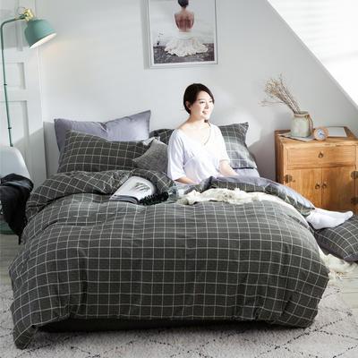 2020新款-全棉简约宜家系列多规格 床单款三件套1.2m(4英尺)床 积家