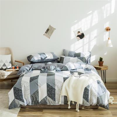 2020新款-全棉简约宜家系列多规格 床单款三件套1.2m(4英尺)床 交响曲