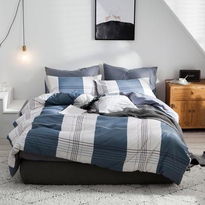 2020新款-全棉简约宜家系列多规格 床单款三件套1.2m(4英尺)床 凯希