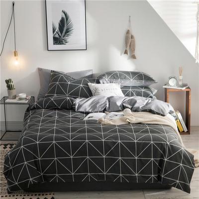 2020新款-全棉简约宜家系列多规格 床单款三件套1.2m(4英尺)床 拉姆