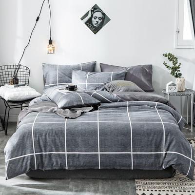 2020新款-全棉简约宜家系列多规格 床单款三件套1.2m(4英尺)床 普赛风情