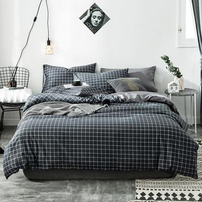 2020新款-全棉简约宜家系列多规格 床单款三件套1.2m(4英尺)床 绅士