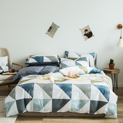 2020新款-全棉简约宜家系列多规格 床单款三件套1.2m(4英尺)床 阳光色彩