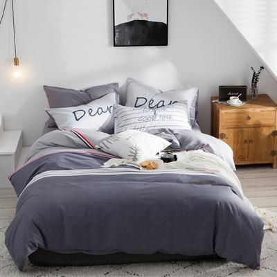 2020新款-全棉简约宜家系列多规格 床单款三件套1.2m(4英尺)床 张扬青春