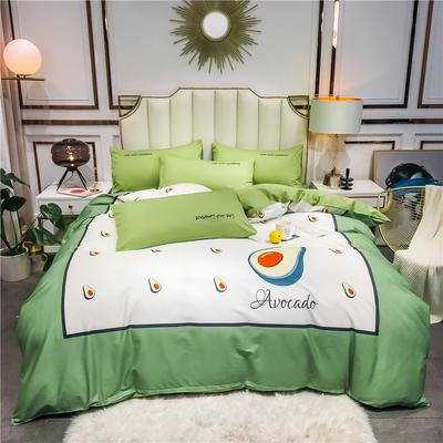 全棉轻奢平网系列四件套 床单款四件套1.8m(6英尺)床 果动力
