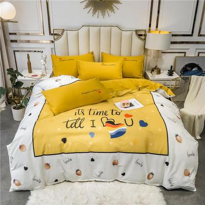 全棉轻奢平网系列四件套 床单款四件套1.8m(6英尺)床 简爱