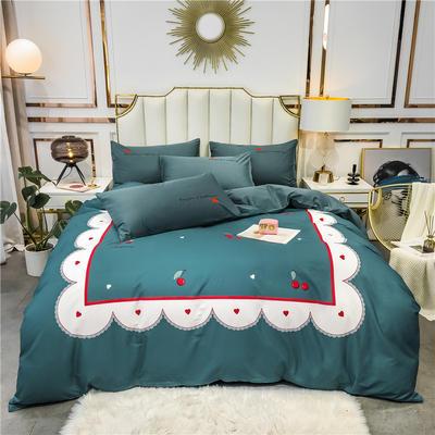 2020新品-全棉轻奢平网系列四件套(1) 床单款三件套1.2m(4英尺)床 小欢喜
