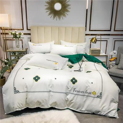 2020新品-全棉轻奢平网系列四件套(1) 床单款三件套1.2m(4英尺)床 小确幸