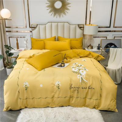 2020新品-全棉轻奢平网系列四件套(1) 床单款三件套1.2m(4英尺)床 筱梦堤香