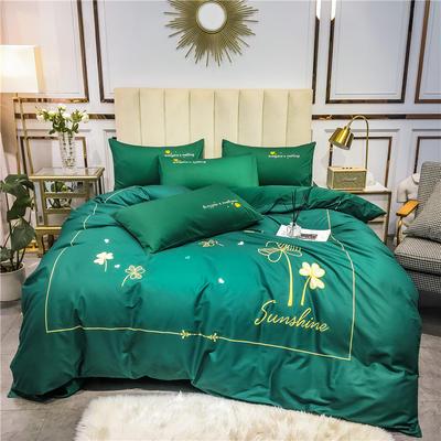 2020新品-全棉轻奢平网系列四件套(1) 床单款三件套1.2m(4英尺)床 幸运日