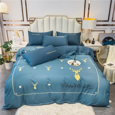 2020新品-全棉轻奢平网系列四件套(1) 床单款三件套1.2m(4英尺)床 遇见