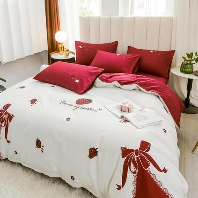 2020新品-全棉轻奢平网系列四件套(2) 床单款三件套1.2m(4英尺)床 纷飞