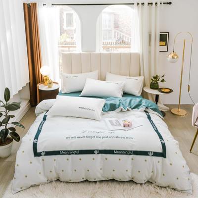 2020新品-全棉轻奢平网系列四件套(2) 床单款三件套1.2m(4英尺)床 美妙人生