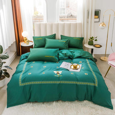 2020新品-全棉轻奢平网系列四件套(2) 床单款三件套1.2m(4英尺)床 美妙生活