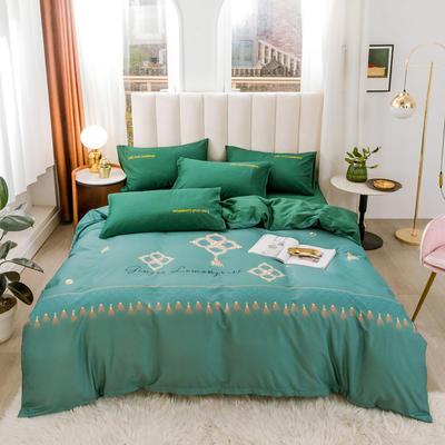 2020新品-全棉轻奢平网系列四件套(2) 床单款三件套1.2m(4英尺)床 摩登