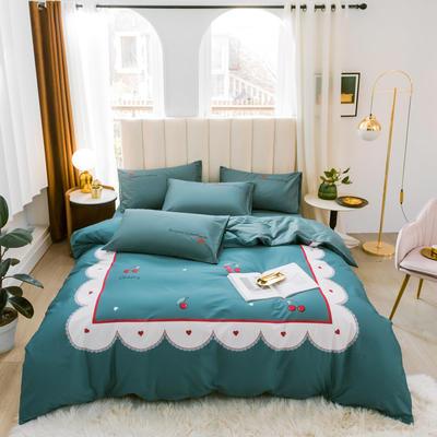 2020新品-全棉轻奢平网系列四件套(2) 床单款三件套1.2m(4英尺)床 小欢喜