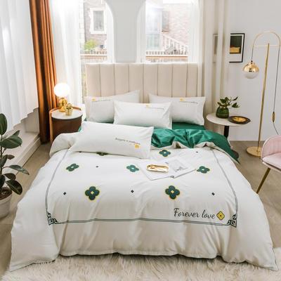 2020新品-全棉轻奢平网系列四件套(2) 床单款三件套1.2m(4英尺)床 小确幸