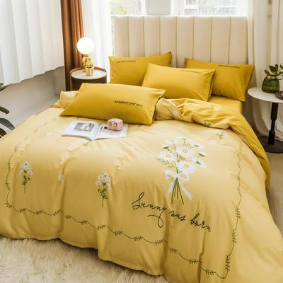 2020新品-全棉轻奢平网系列四件套(2) 床单款三件套1.2m(4英尺)床 筱梦堤香
