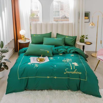 2020新品-全棉轻奢平网系列四件套(2) 床单款三件套1.2m(4英尺)床 幸运日