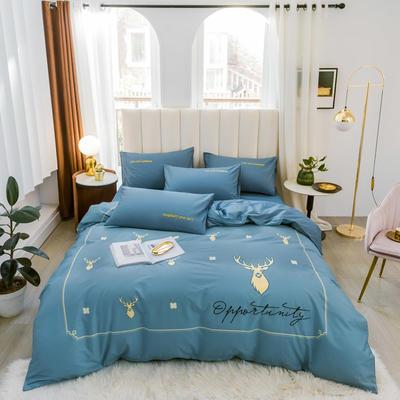 2020新品-全棉轻奢平网系列四件套(2) 床单款三件套1.2m(4英尺)床 遇见