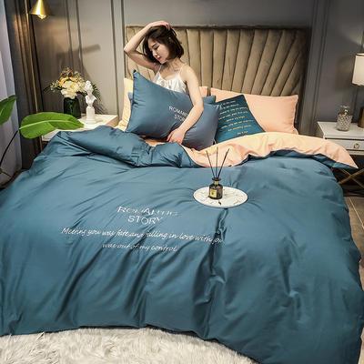 2020新款40R系列刺绣款-四件套 四件套1.5m床单款 R-皇家兰+粉玉