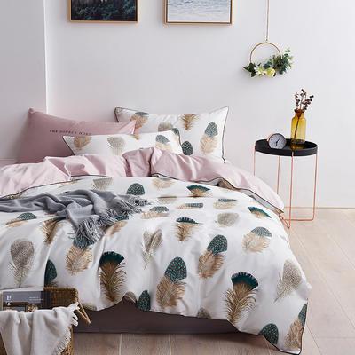 2020新款-60支长绒棉数码印花四件套 床单款四件套1.5m(5英尺)床 水墨丽影