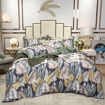 2020新款-水洗真丝四件套 床单款三件套1.2m(4英尺)床 百变叶