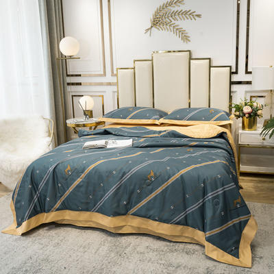 2020新款-水洗真丝四件套 床单款四件套1.5m(5英尺)床 轻奢豹