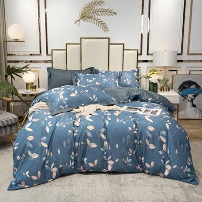 2020新款-水洗真丝四件套 床单款三件套1.2m(4英尺)床 清芳