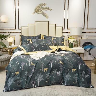 2020新款-水洗真丝四件套 床单款三件套1.2m(4英尺)床 森语林