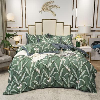 2020新款-水洗真丝四件套 床单款四件套1.5m(5英尺)床 温妮纱