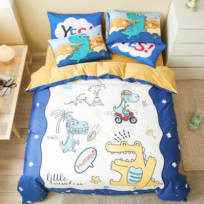 全棉平网系列四件套 床单款1.2m被套160*210 童梦圆