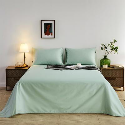 2020新款-全棉40H系列刺绣-单床单 245*250 薄荷绿