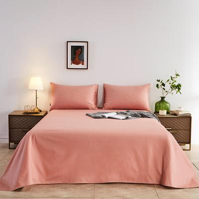 2020新款-全棉40H系列刺绣-单床单 245*250 豆沙