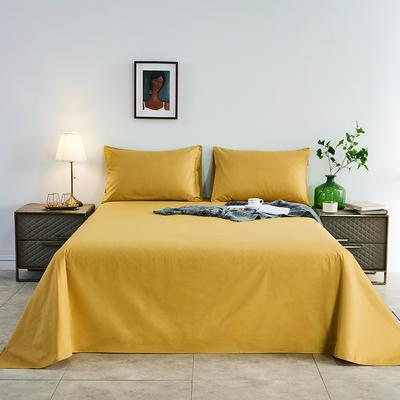 2020新款-全棉40H系列刺绣-单床单 245*250 姜黄