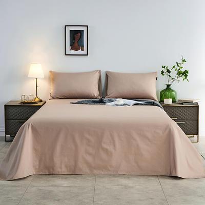 2020新款-全棉40H系列刺绣-单床单 245*250 卡其