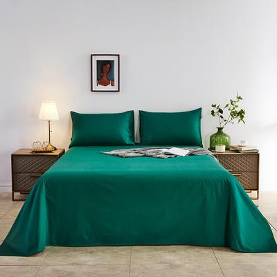 2020新款-全棉40H系列刺绣-单床单 245*250 墨绿