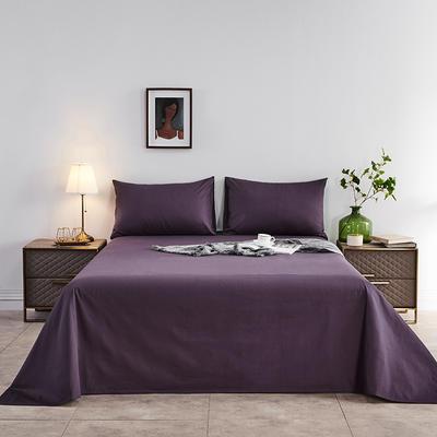 2020新款-全棉40H系列刺绣-单床单 245*250 深紫