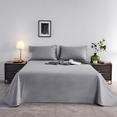 2020新款-全棉40H系列刺绣-单床单 245*250 银灰