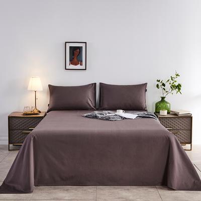 2020新款-全棉40H系列刺绣-单床单 245*250 紫咖