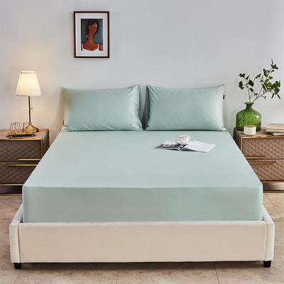 2020新款-全棉40H系列刺绣-单床笠 120cmx200cm 薄荷绿