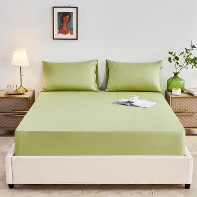 2020新款-全棉40H系列刺绣-单床笠 120cmx200cm 果绿