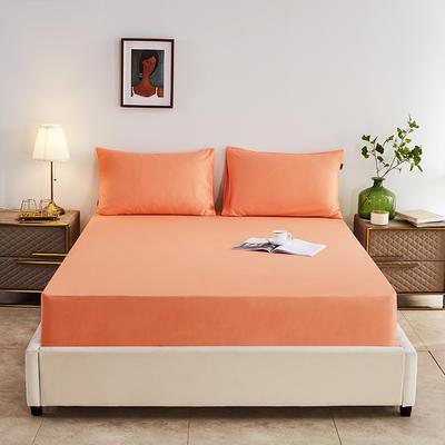 2020新款-全棉40H系列刺绣-单床笠 120cmx200cm 桔色