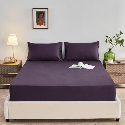 2020新款-全棉40H系列刺绣-单床笠 120cmx200cm 深紫