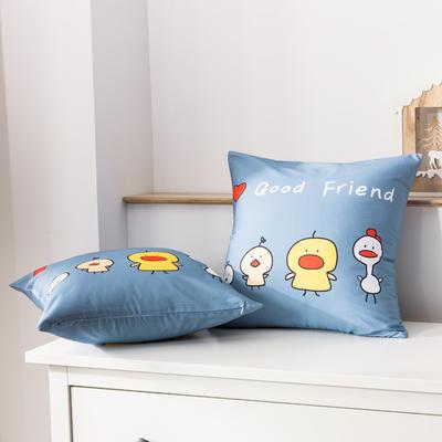 2020新款-全棉大版单品-抱枕 45x45cm/一只含枕芯 你好鸭